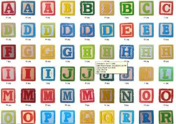 Vintage Block Capital Letter Clip Art