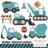 Vintage Blue Construction Clipart & Vectors