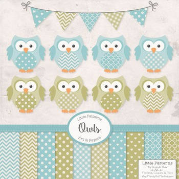Vintage Boys Owls Vectors & Papers - Owl Clip Art, Baby Owls, Baby Owls Clipart