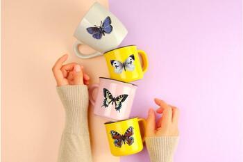 Vintage Butterflies llustrations, Retro Butterfly Clipart, Printable Butterflies