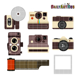 Vintage Camera Clip Art - Great for Art Class Projects!