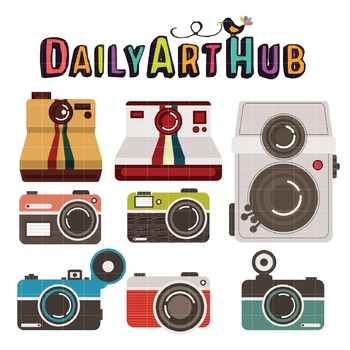 Vintage Cameras Clip Art - Great for Art Class Projects!