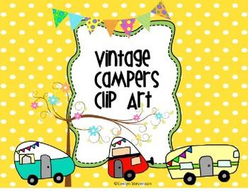 Vintage Camper Clip Art