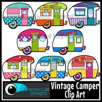 Vintage Camper Clip Art Retro Clipart