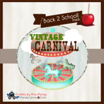 Vintage Carnival Back 2 School Set