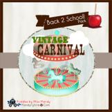 Vintage Carnival Back 2 School Set