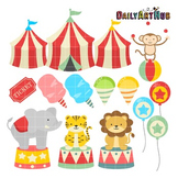 Vintage Carnival Clip Art - Great for Art Class Projects!