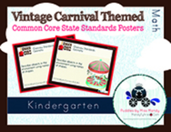 Vintage Carnival Kindergarten Math Common Core Printables