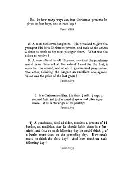Vintage Christmas Algebra