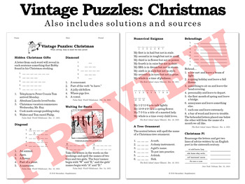 Vintage Christmas Puzzles