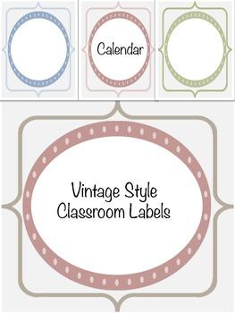 Vintage Classroom Calendar