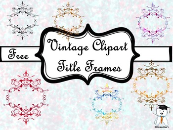 FREE Vintage Clipart Title Frames