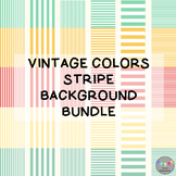 Vintage Colors Stripe Background Bundle