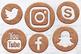 Vintage Copper Social Icons Set