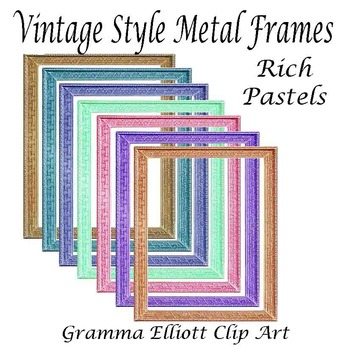 Frames - Vintage Style - Spring Colors