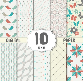 Vintage Digital Paper, Vintage CRAFT PAPERS, digital papers