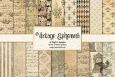 Vintage Ephemera Textures digital paper