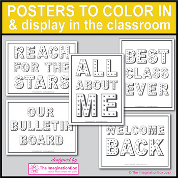 Back to School First Week Back Bulletin Board Posters