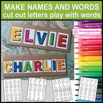 Name Activities and Alphabet Posters for Back To School