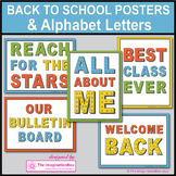 Back to School Posters and Alphabet Coloring Pages