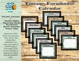 Vintage Farmhouse Calendars (Editable)
