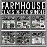 Rustic Farmhouse Classroom Decor EDITABLE Bundle Farmhouse Decor