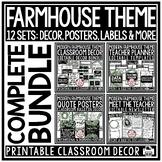 Farmhouse Classroom Decor: Growth Mindset Farmhouse Classroom Theme Decor Bundle