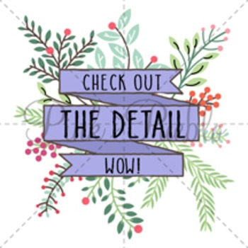 Vintage Floral Banner Clipart Clip Art, Rustic Wedding Laurel Wreath