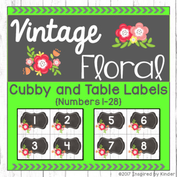 Shabby Chic Cubby and Table Labels {Vintage Floral Design}