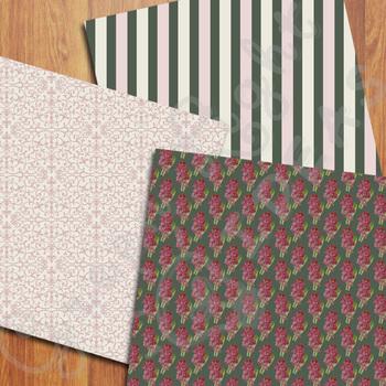 Vintage Floral Digital Papers / Floral Backgrounds / Spring Papers