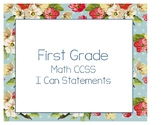 Vintage Floral I Can Statements {First Grade} {Math}