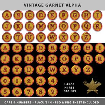 Vintage Garnet Alpha Template Set