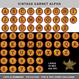 Vintage Garnet Alpha Template Set