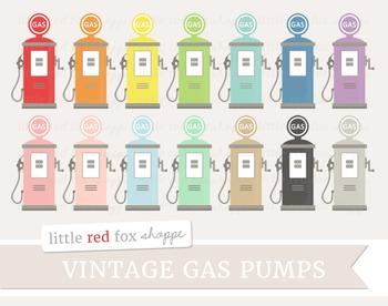 Vintage Gas Pump Clipart
