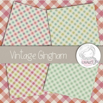 Vintage Gingham - Digital Paper