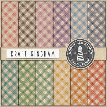 Vintage Gingham Digital Paper