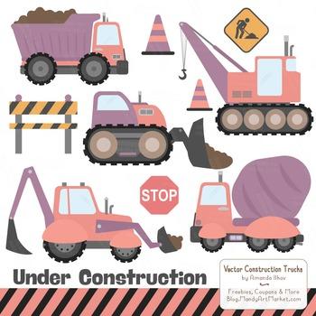 Vintage Girl Construction Clipart & Vectors