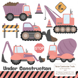 Vintage Girl Construction Clipart & Vectors