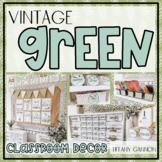 Vintage Green Classroom Decor Bundle