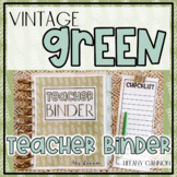 Vintage Green EDITABLE Teacher Binder