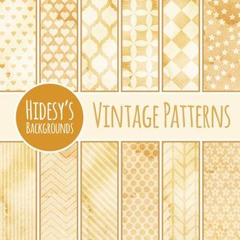 Vintage / Grunge / Patterns Backgrounds Clip Art Pack for Commercial Use