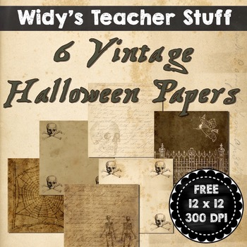 Vintage Halloween Background Papers Clip Art Freebie - Clip Art For Sellers