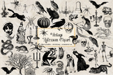 Vintage Halloween Clipart and Antique Illustrations