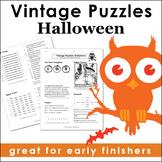 Vintage Halloween Puzzles