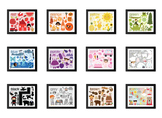 Vintage Illustrated Learn Your COLORS Prints (matching Col