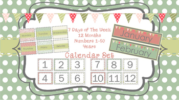 Vintage Inspired Classroom Alphabet and Calender