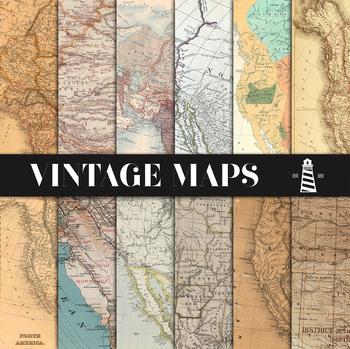 Vintage Maps Backgrounds
