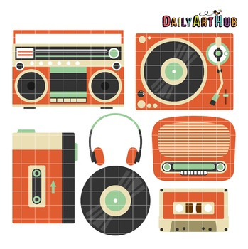 Vintage Music Clip Art - Great for Art Class Projects!
