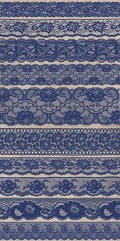 Vintage Navy Blue Lace Borders clipart png scrapbooking embellishments