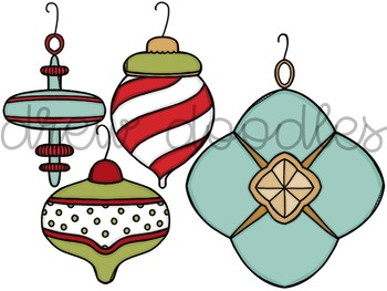 Vintage Ornaments Digital Clip Art Set